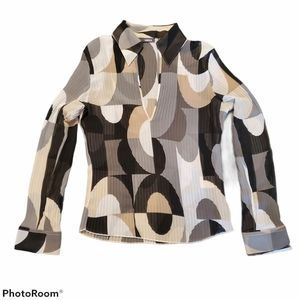 MEXX long sleeve retro blouse, size 10